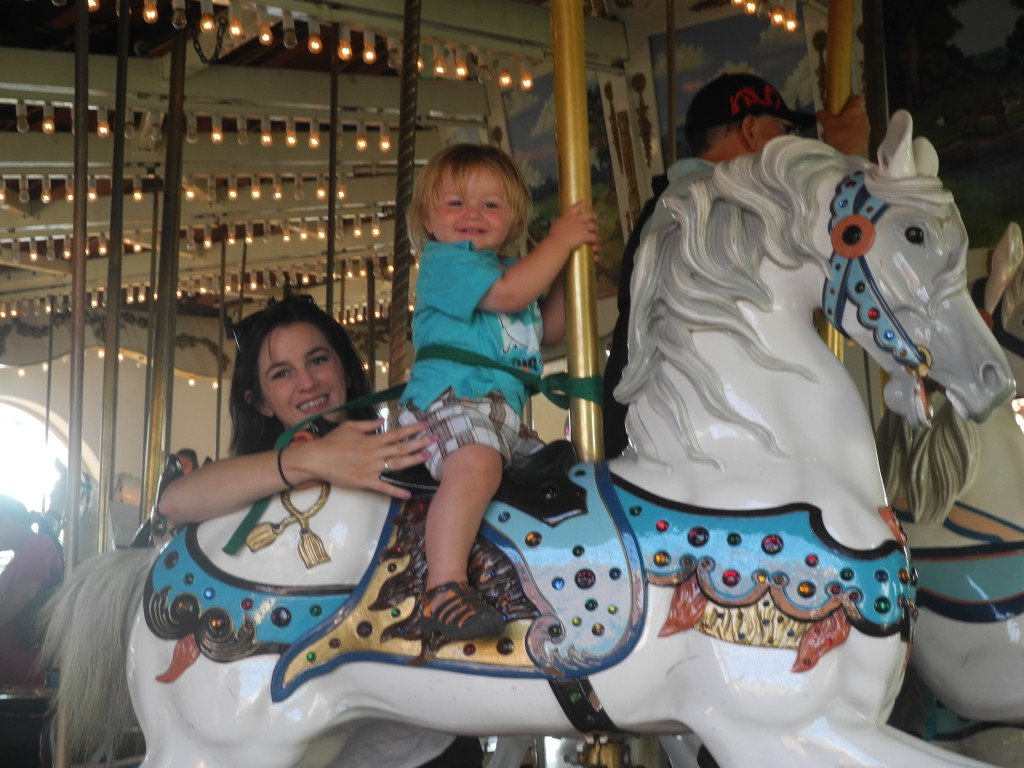Historic Seaport Village Carousel with Kids