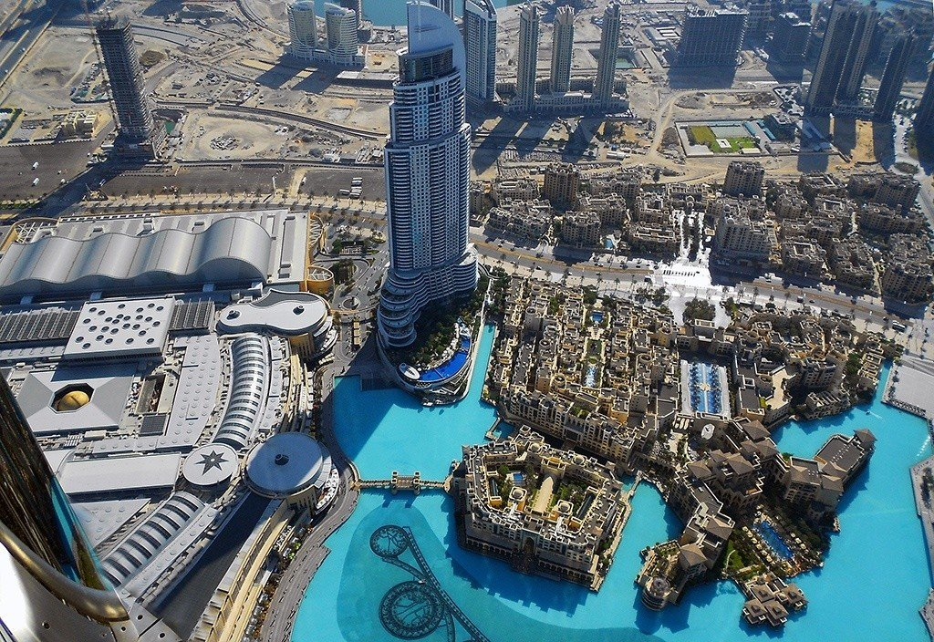 The amazing view from Burj Khalifa