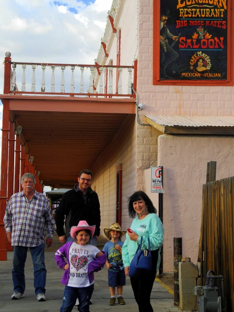 Kids at big nose kate's saloon in Tombstone