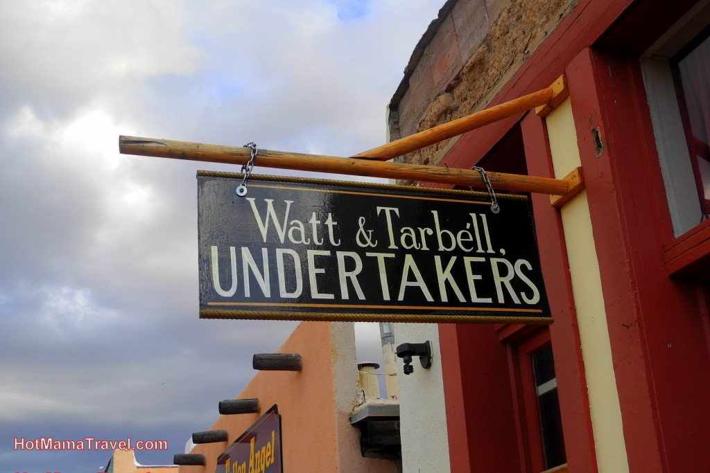 Watt and Tarbell Undertakers Sign