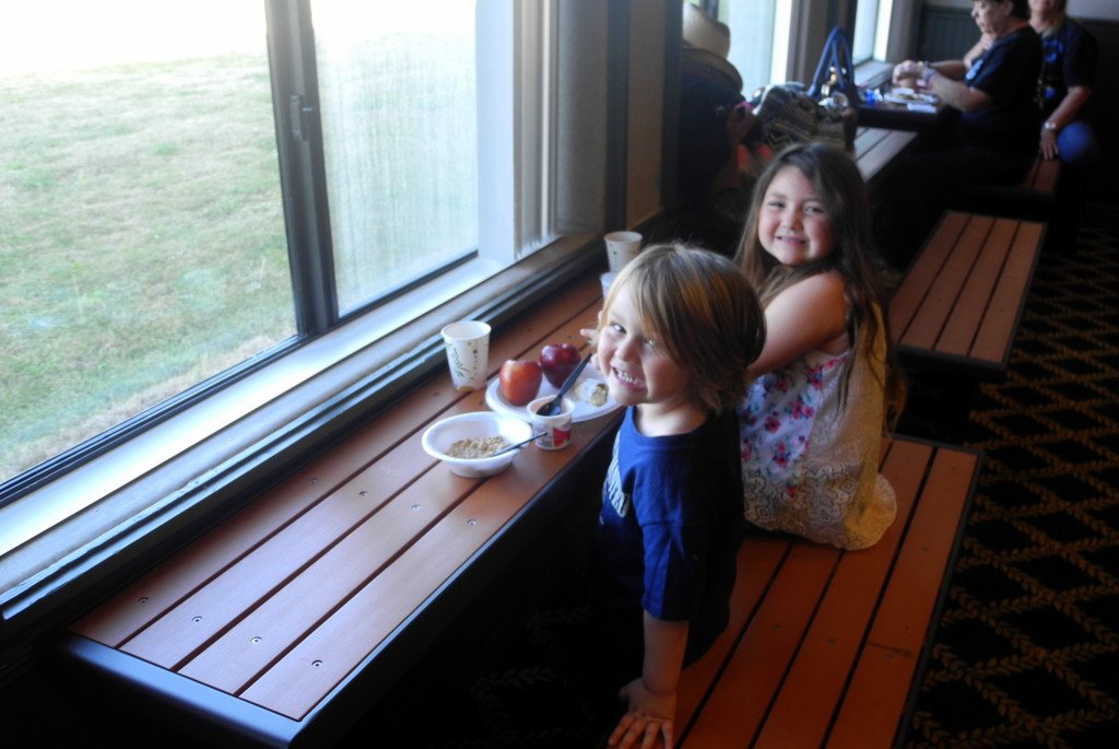 Kids having breakfast at Tombstone Grand Hotel