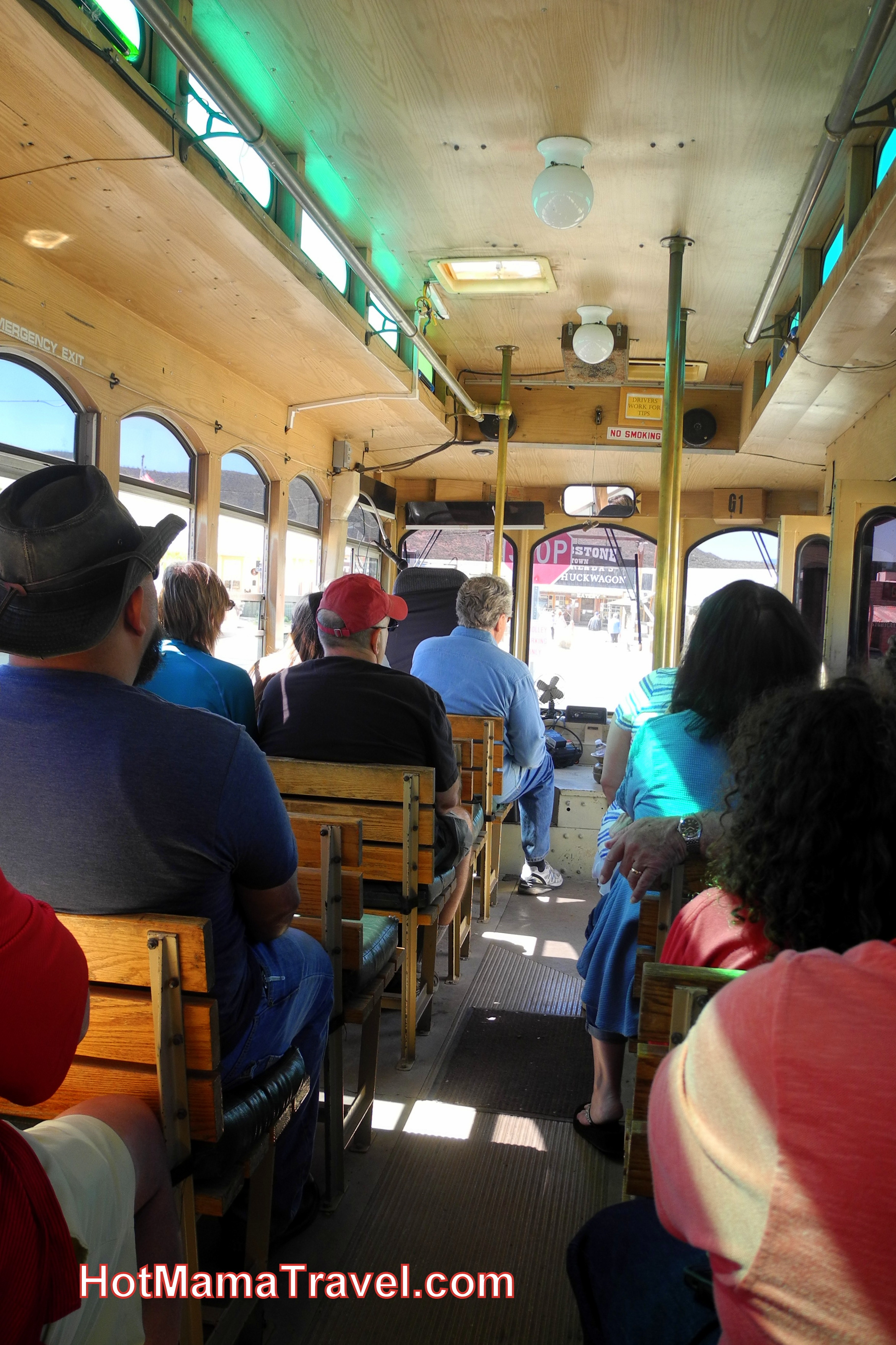 Riding the Tombstone Trolley Tour
