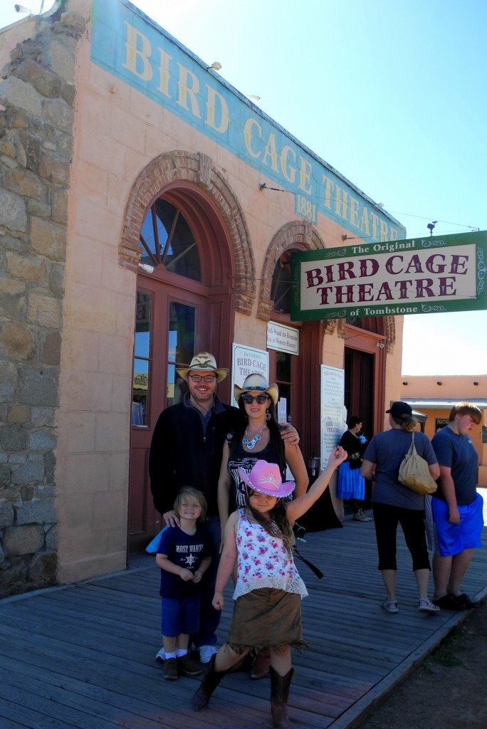 Tombstone Birdcage Theatre with kids