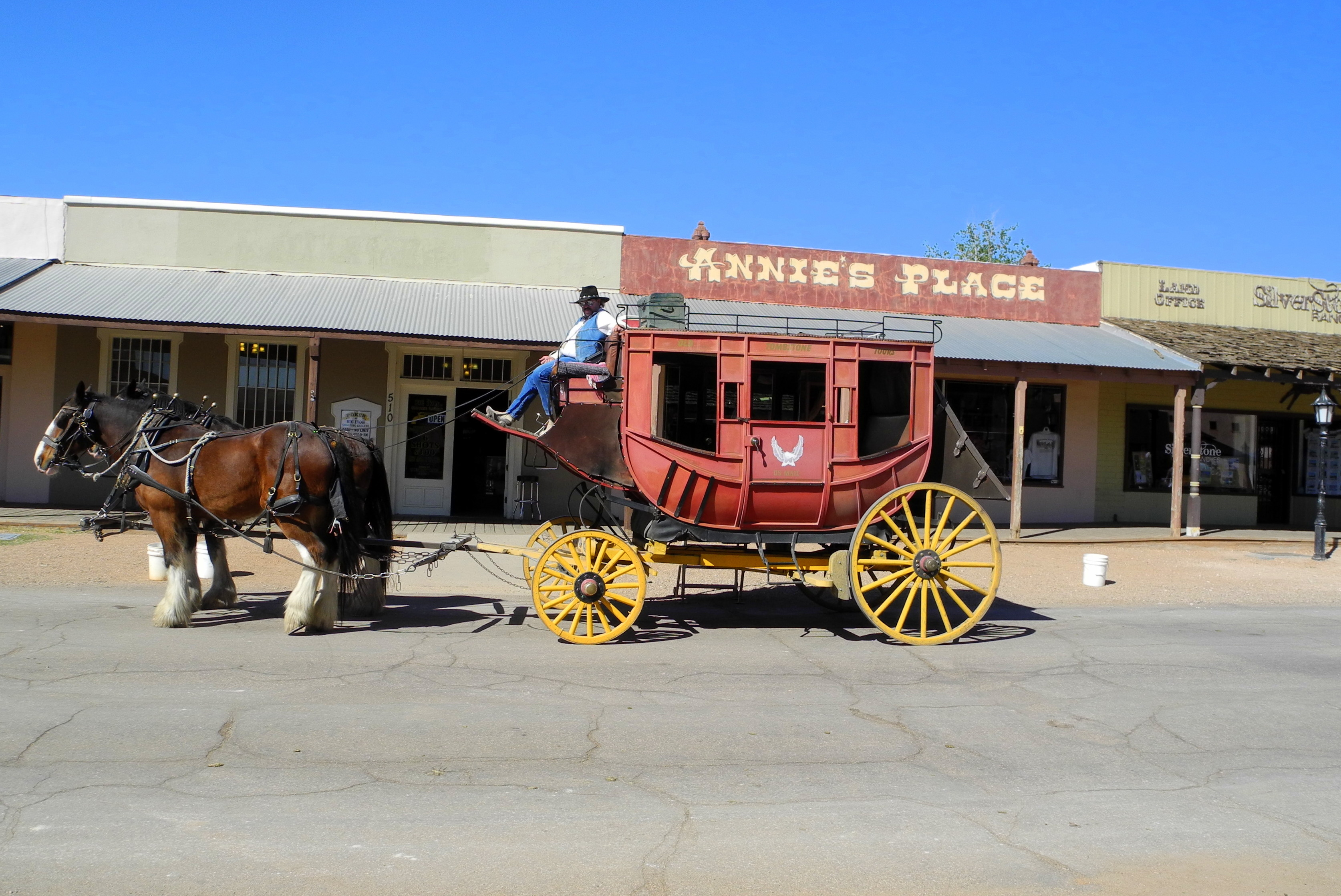 Stage Coach on streets of Tombstone