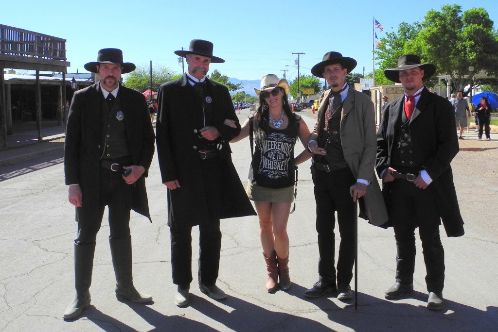 Hot Mama with Cowboys in Tombstone