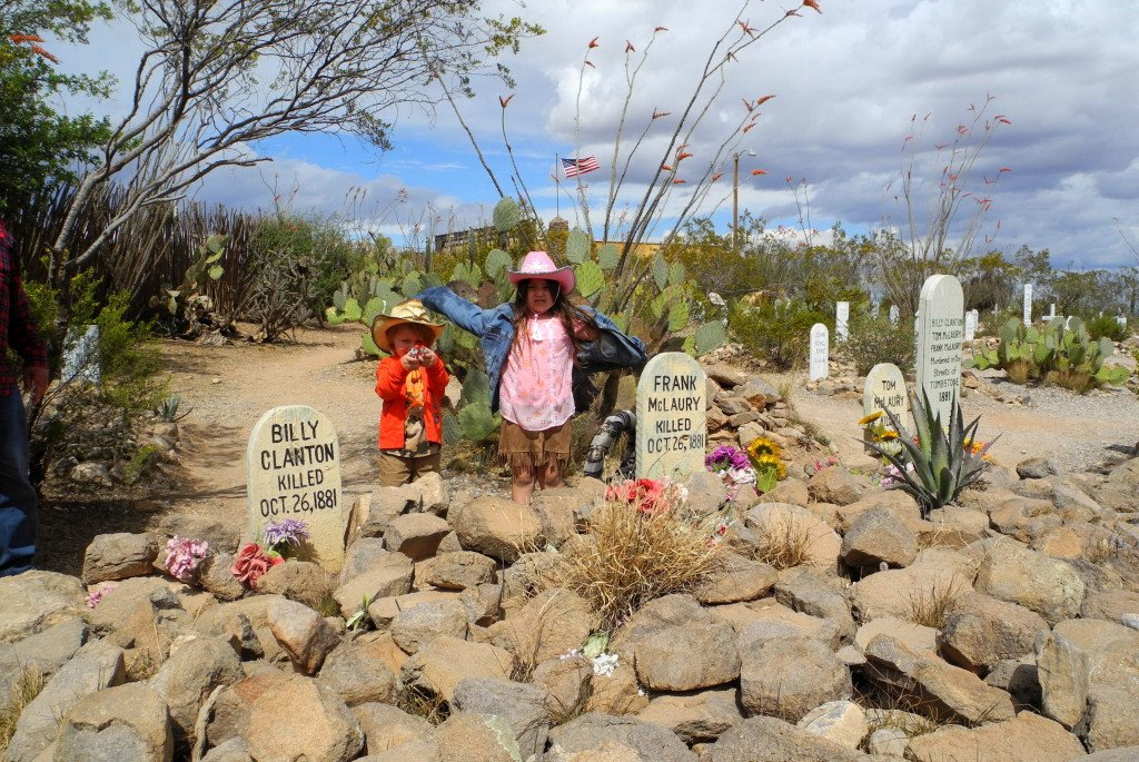 Boothill Graveyard in Tombstone with Kids