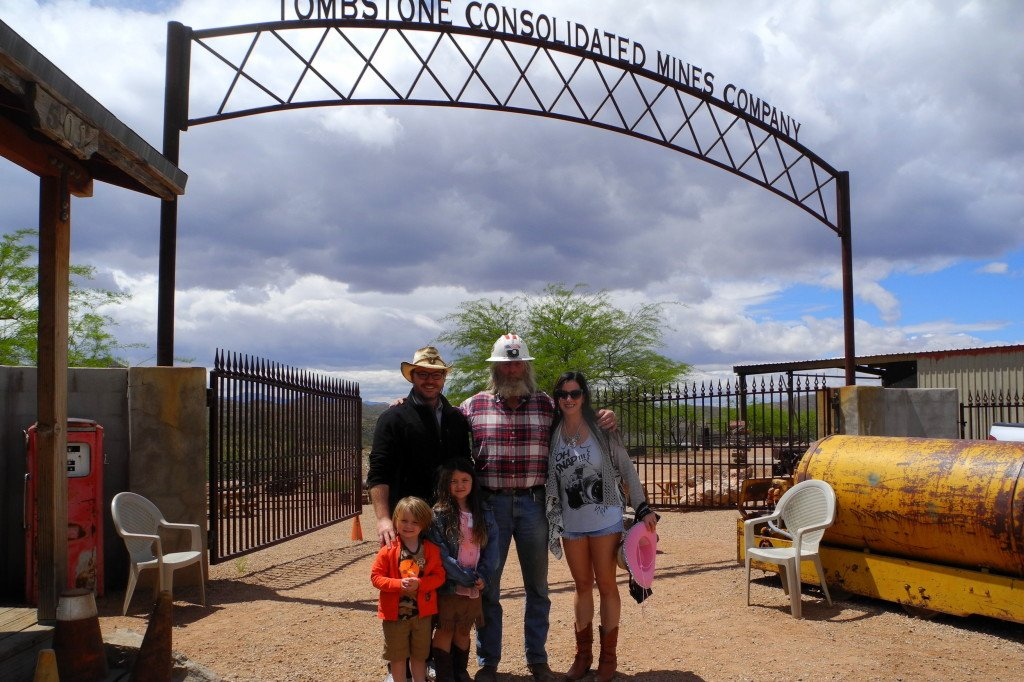 Tombstone Mine Tour with kids
