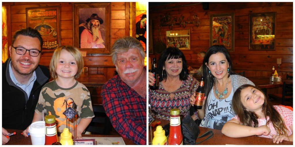 Family inside big nose kate's saloon in Tombstone