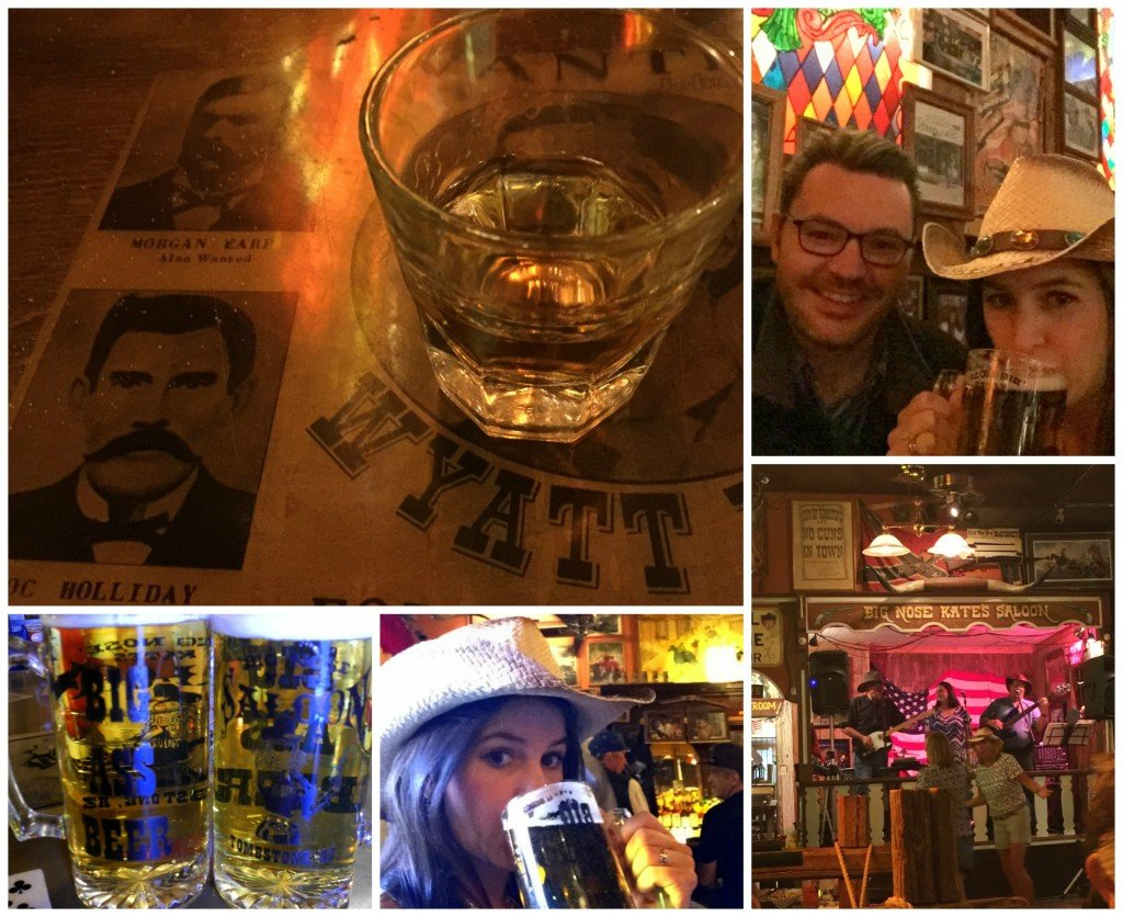 Drinking at Big Nose Kate's Saloon