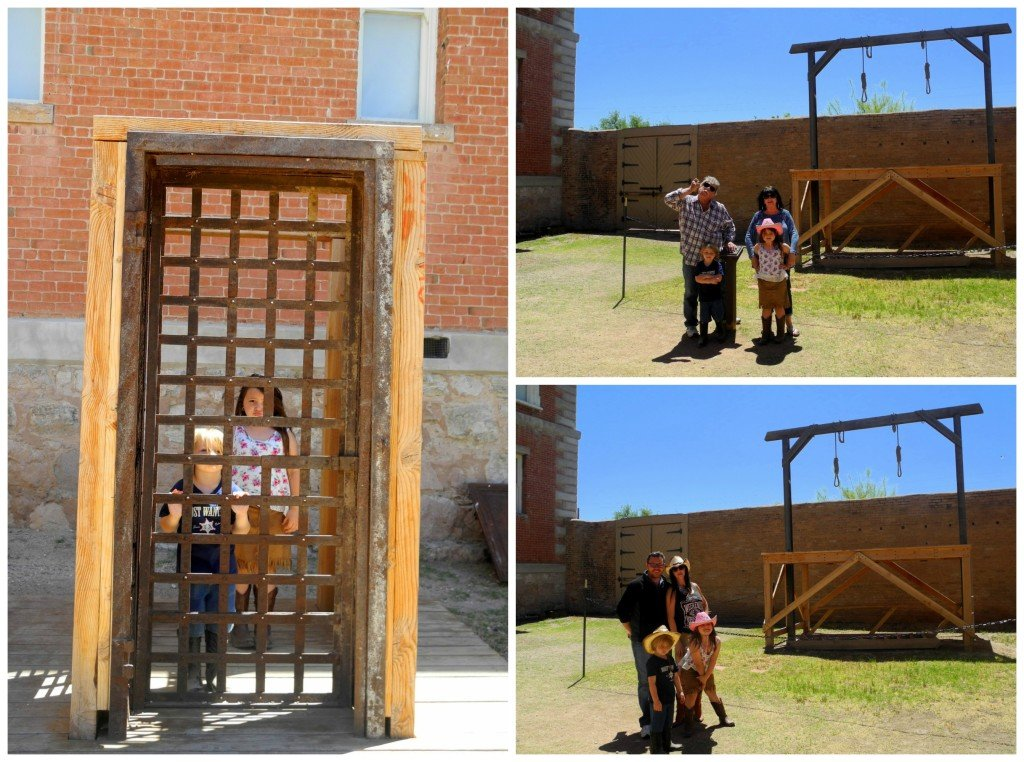 Tombstone courthouse with kids
