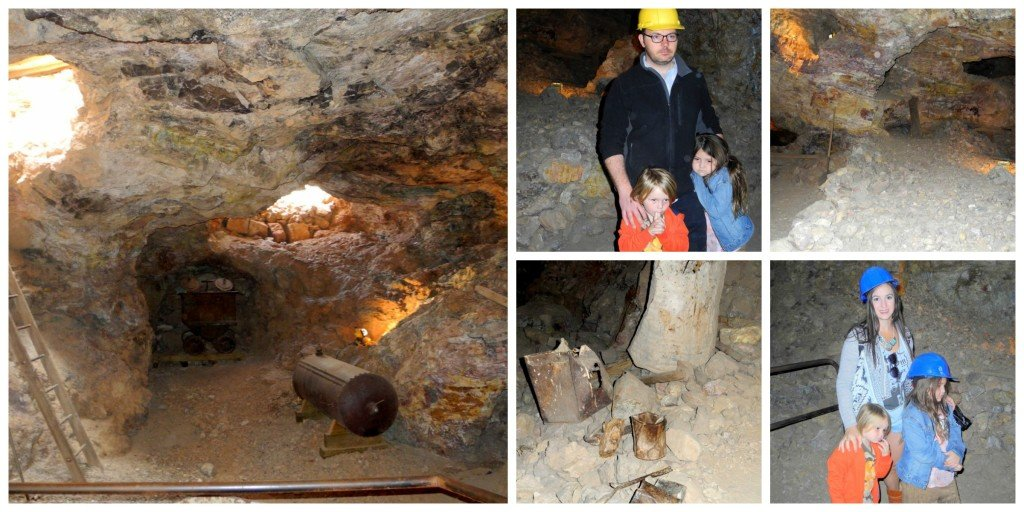 Inside Tombstone mine with Kids