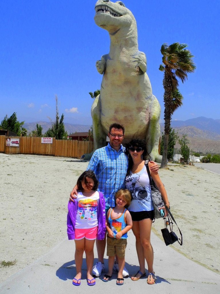 Cabazon Dinorsaurs with Kids near Palm Springs
