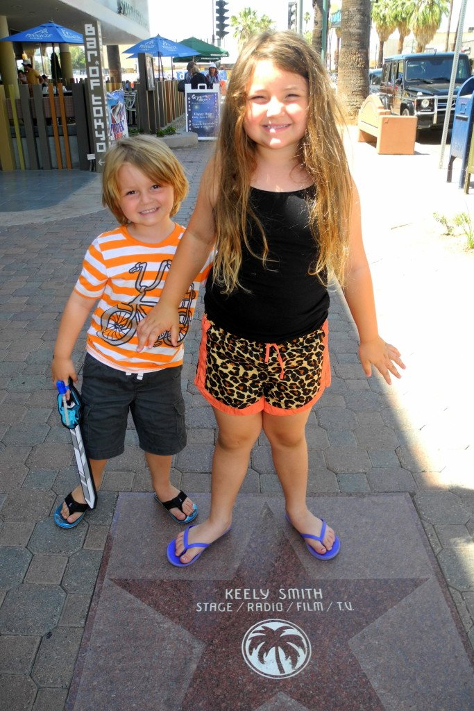 Palm Springs walk of fame with kids