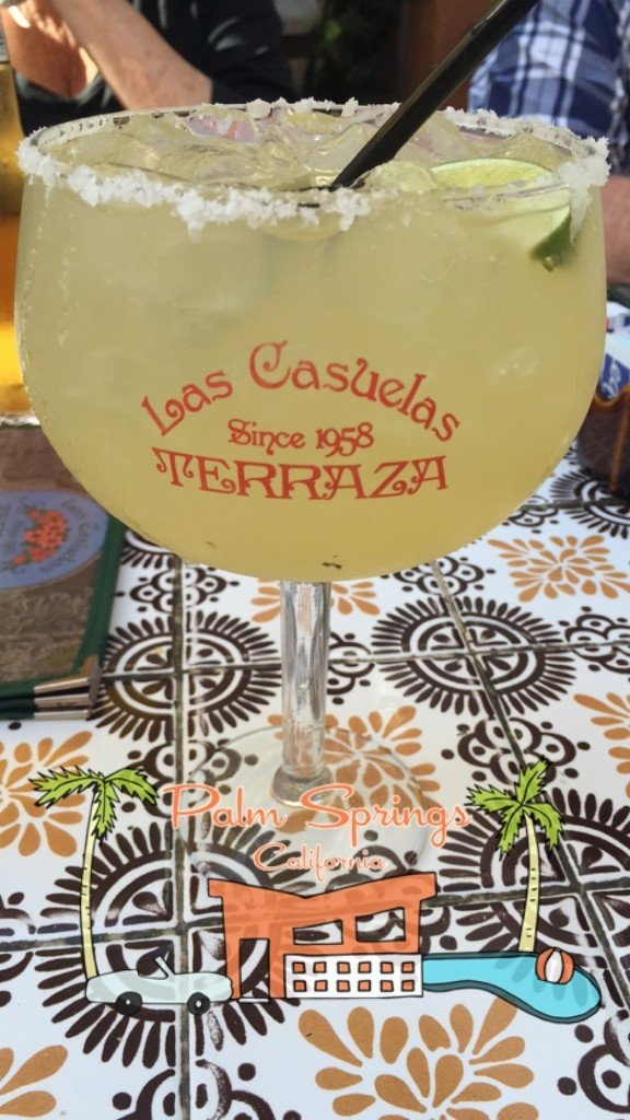 Las Casuelas Terraza Margarita cocktail closeup