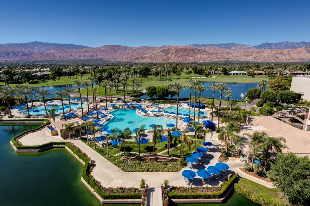 Palm Springs Marriot Arial view