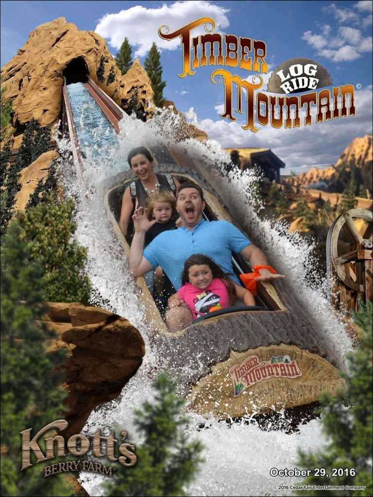 Knotts Berry Farm with Kids on Log Ride