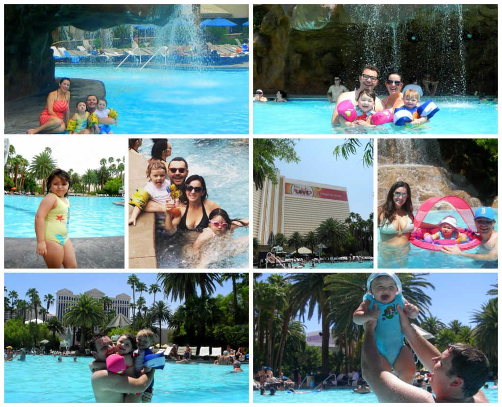 Kids at Pool at Mirage Las Vegas