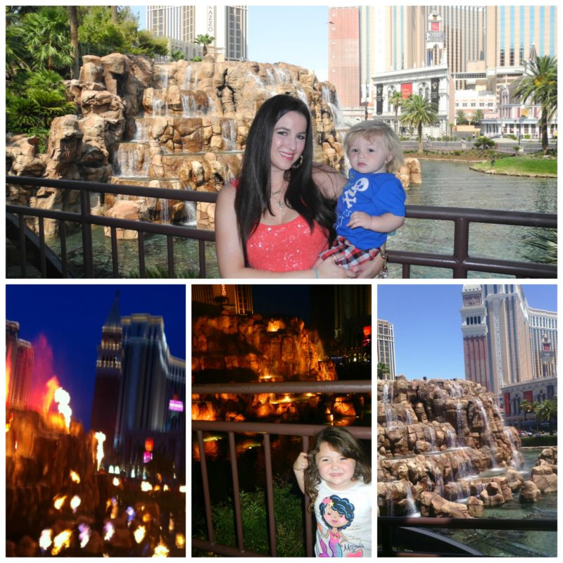 Las Vegas Mirage Volcano with kids