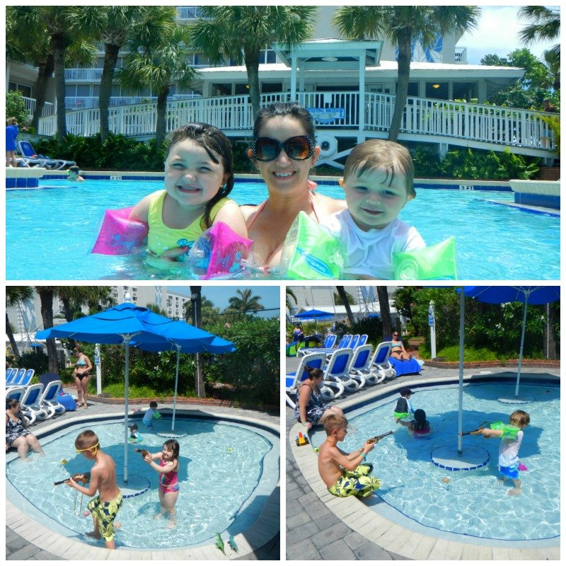 Beach side family pool at Tradewinds Island Grande Resort
