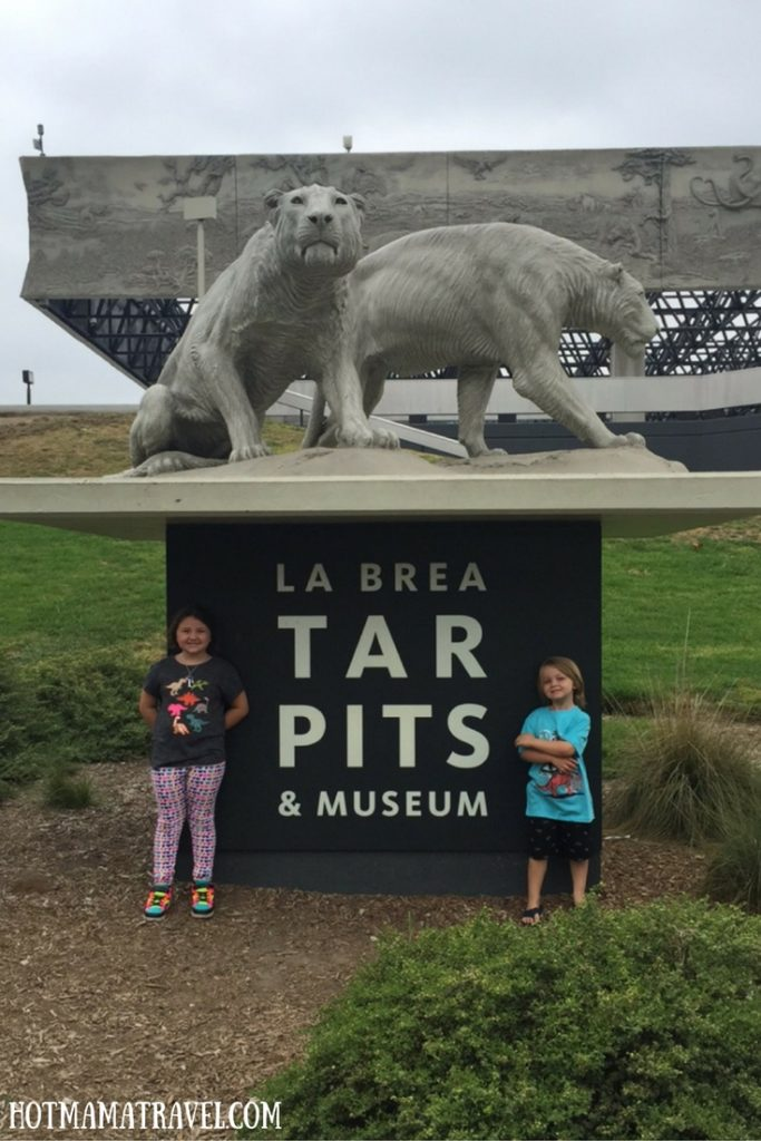 La Brea Tar Pits with kids