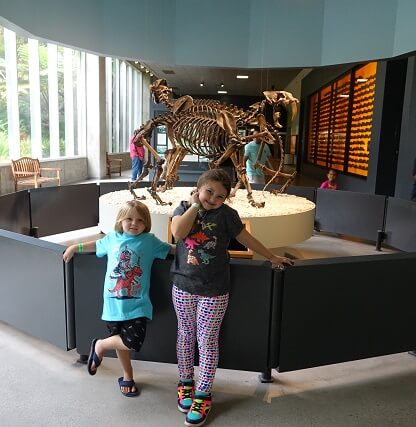 Kids having fun at La Brea Tar Pits