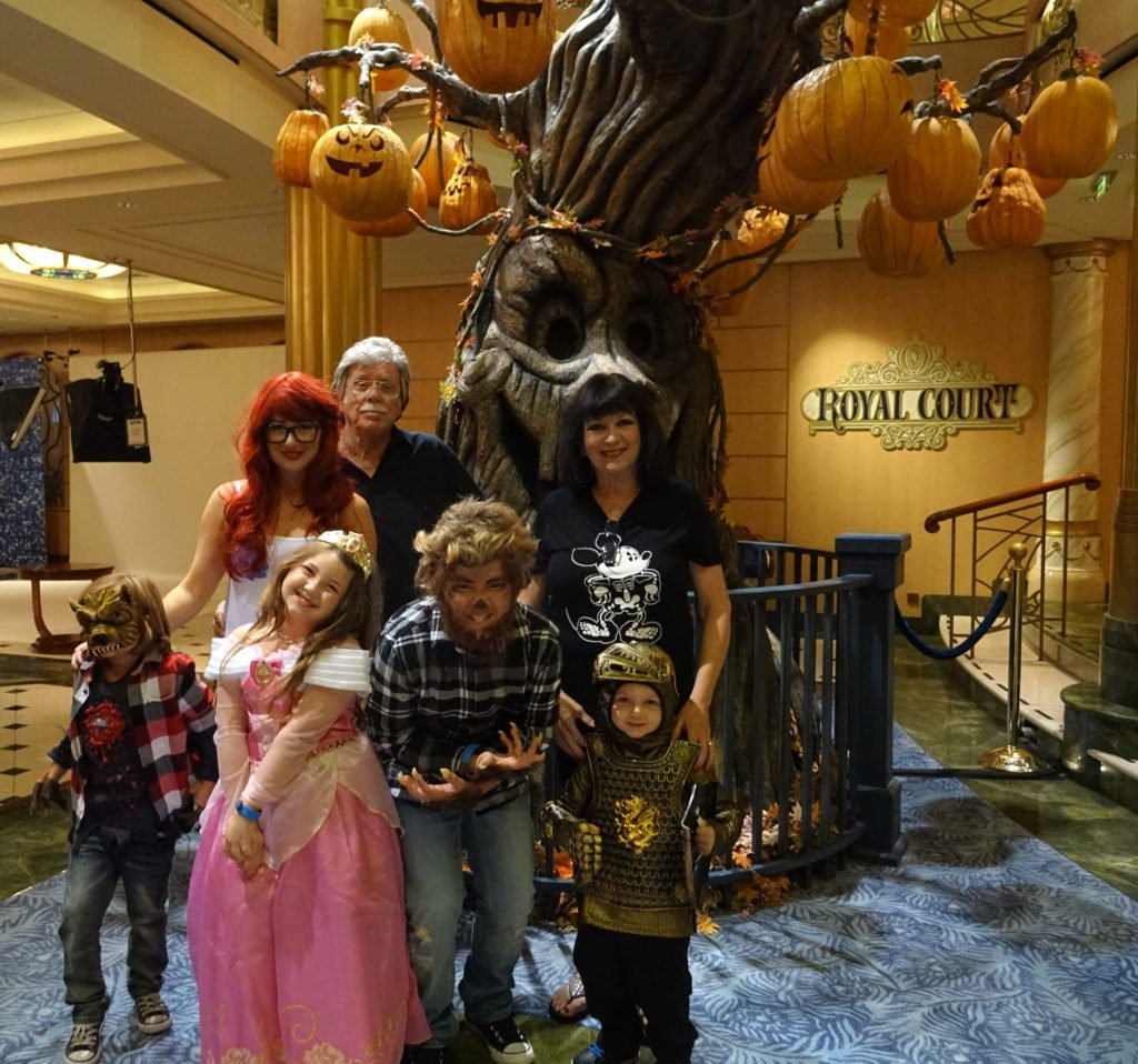 Halloween Costume Family Fantasy Cruise Lobby