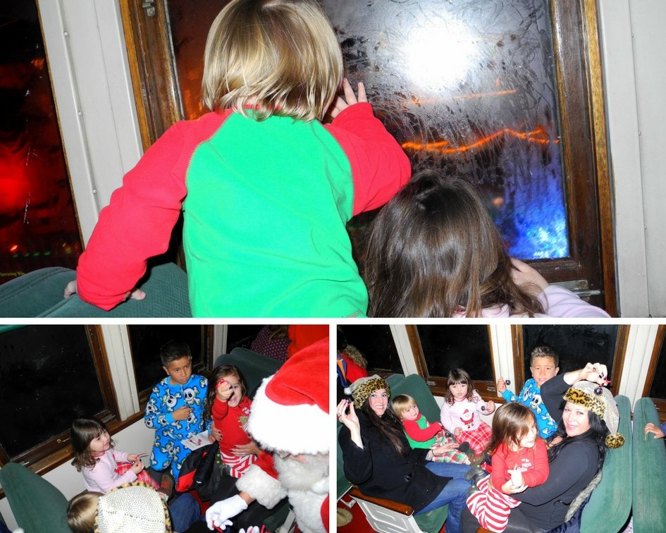 Family fun aboard the polar express train ride