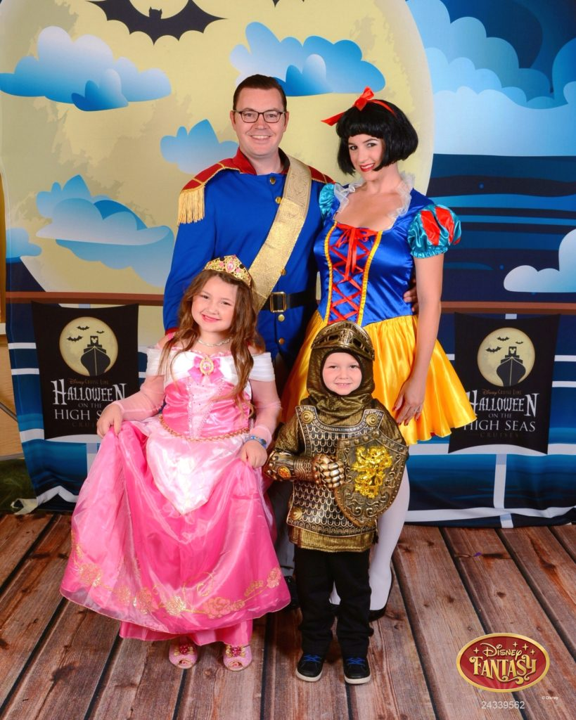 Family in Costume Disney Cruise