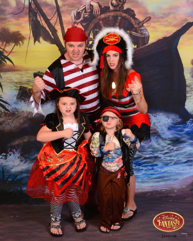 Family Portrait Pirate Night Disney Cruise