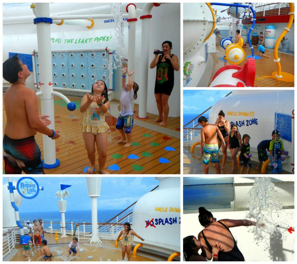 Aqualab Disney Fantasy with kids