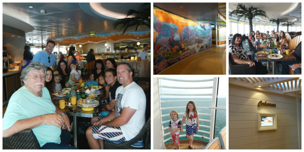 Cabanas Buffet Disney Fantasy with kids