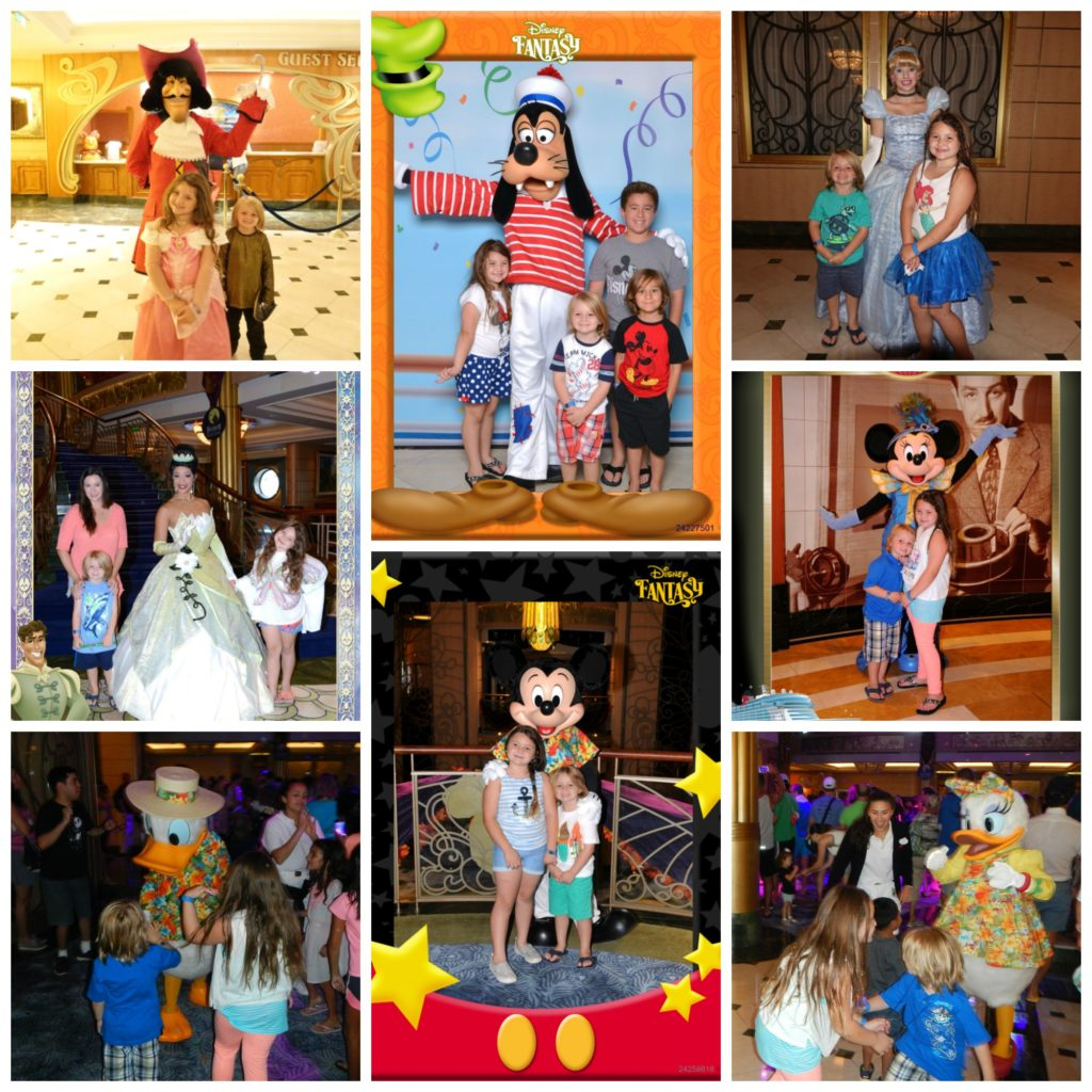 Kids with Disney Characters on Cruise