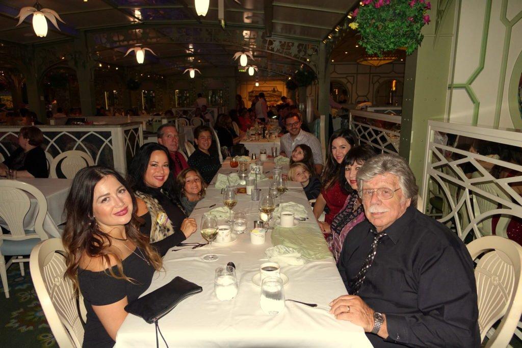 Family Dinner Enchanted Garden Disney Cruise