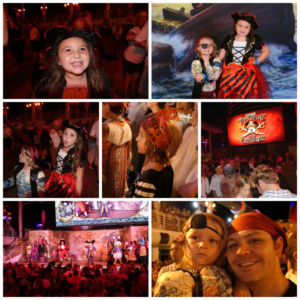 Pirate night with kids Disney Fantasy