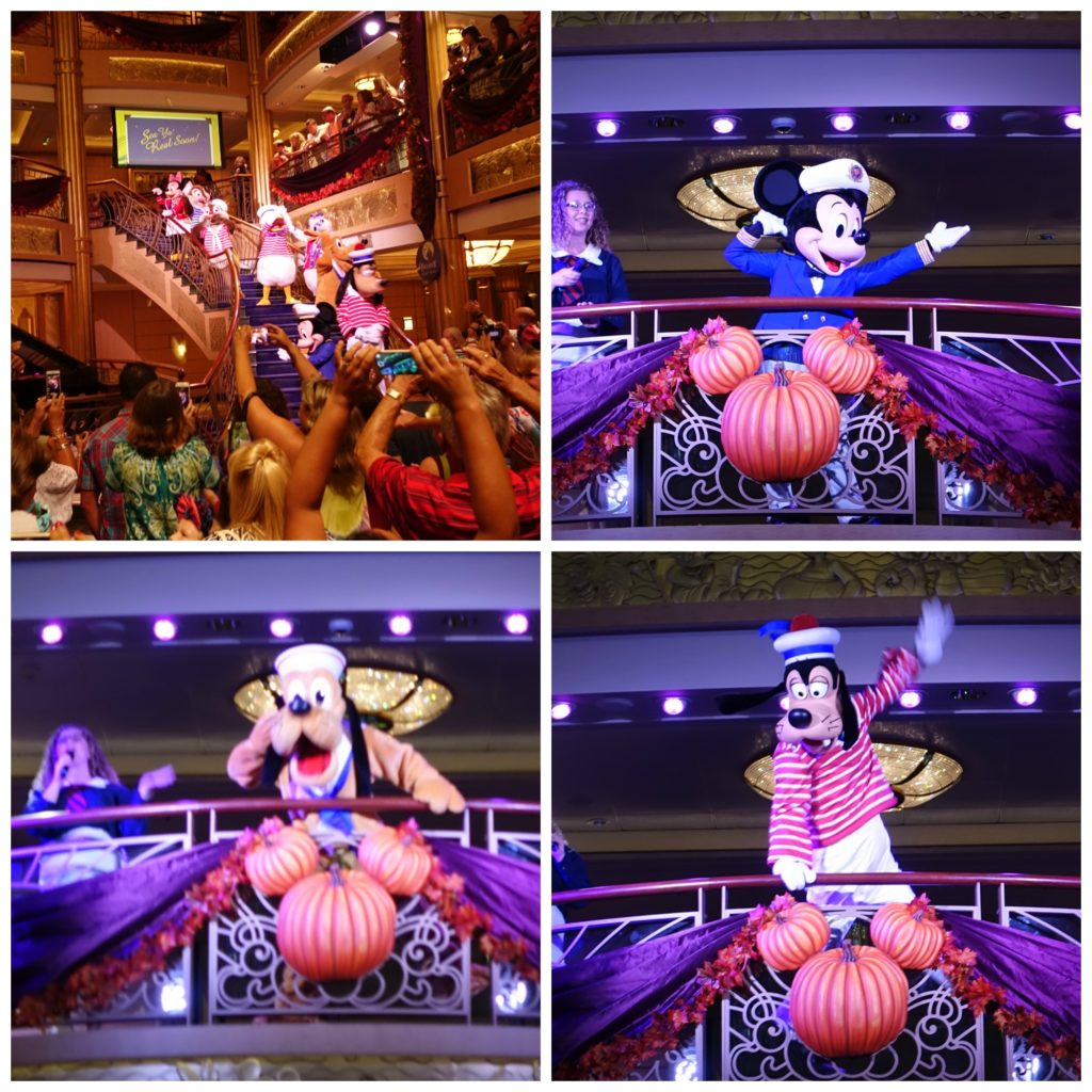 Disney Characters on Halloween Cruise
