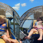 Everglades airboat tour in Florida with kids