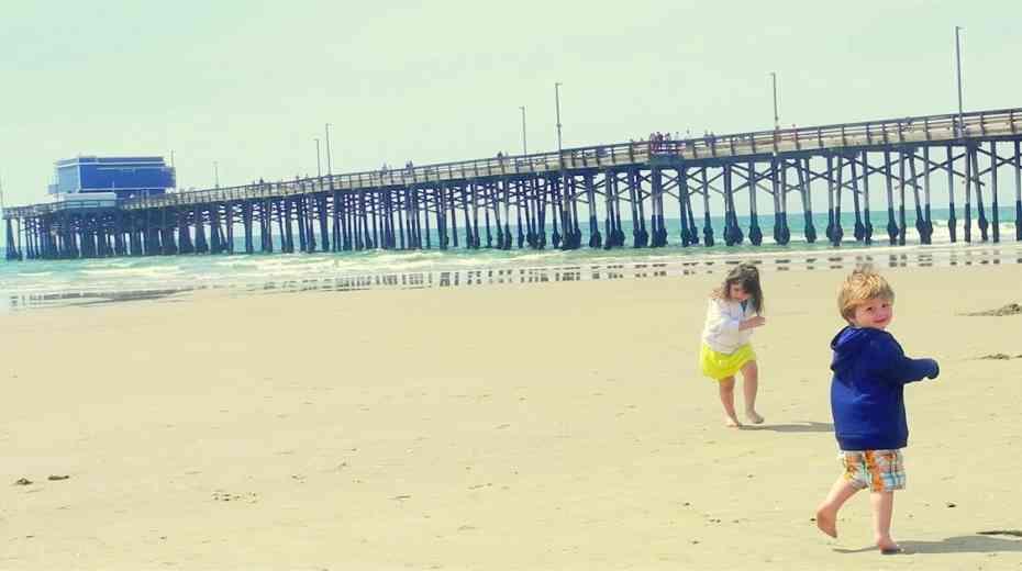 Kids at Newport Beach Family Trip