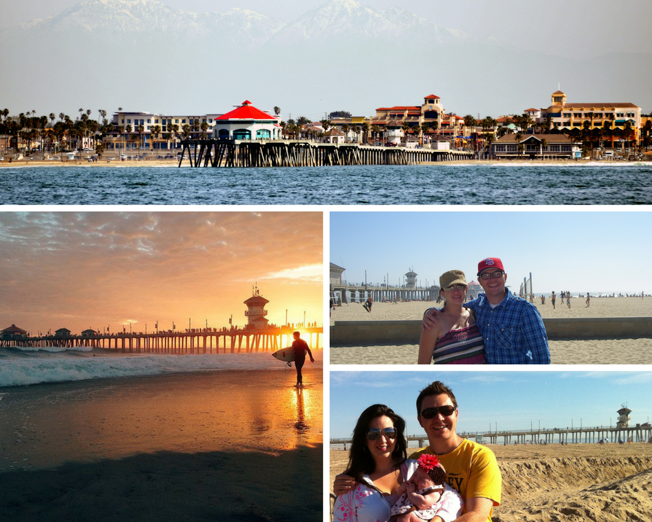 Family at Huntington Beach