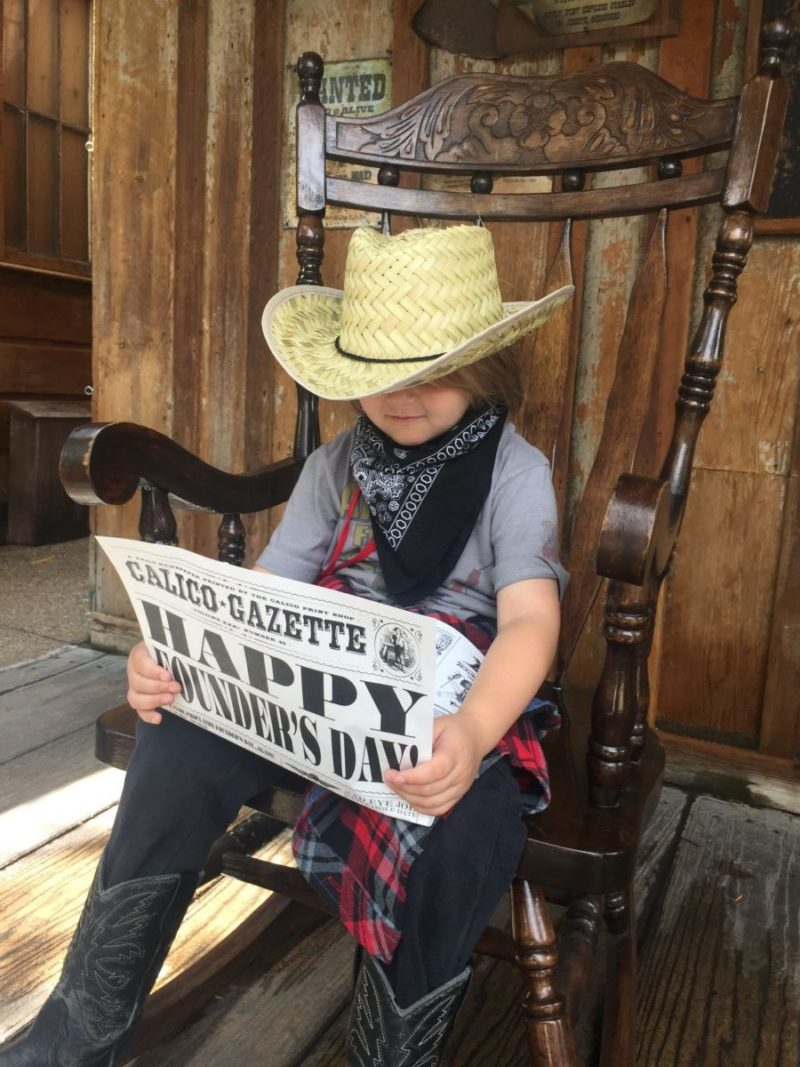 Knotts Ghost Town Alive with kids