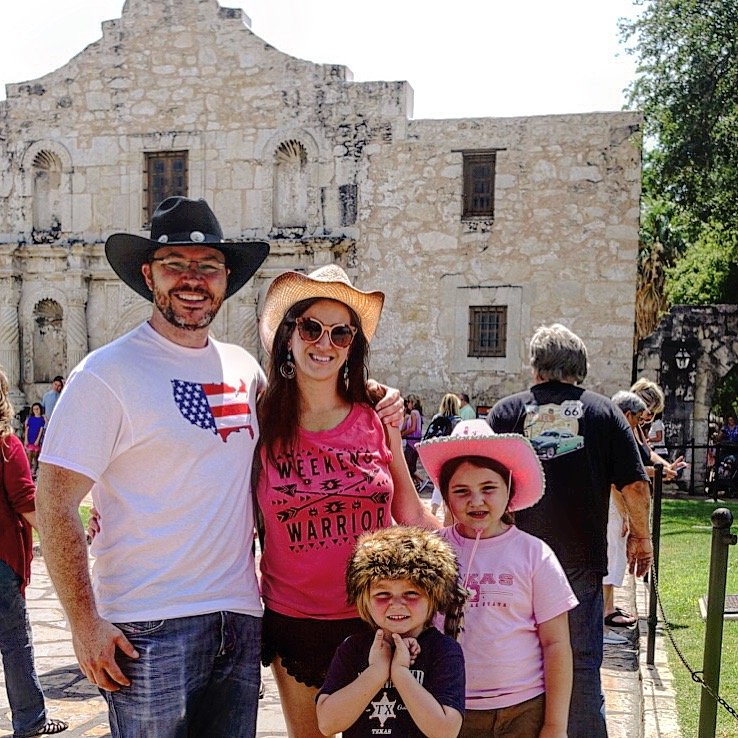 Visiting the Alamo with kids