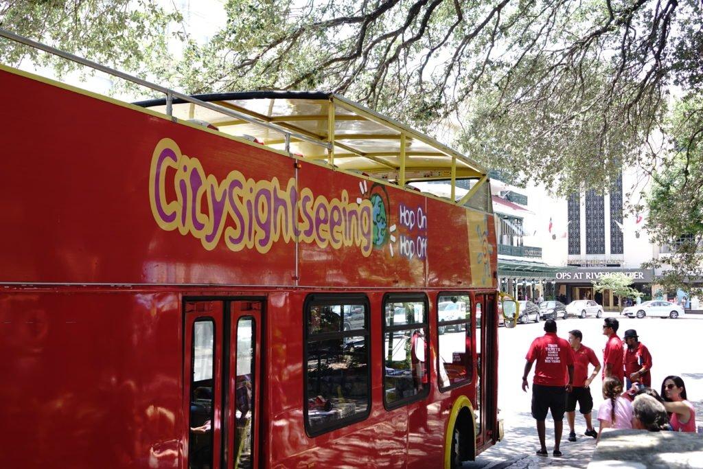 family activity in san antonio city sightseeing bus