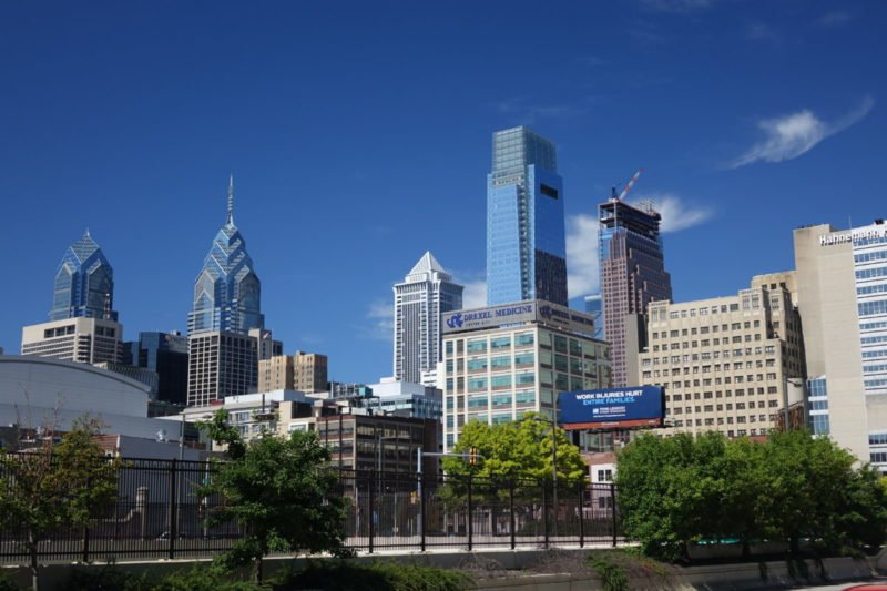 View of Philadelphia from Best Western Plus Philadelphia Convention Center Hotel