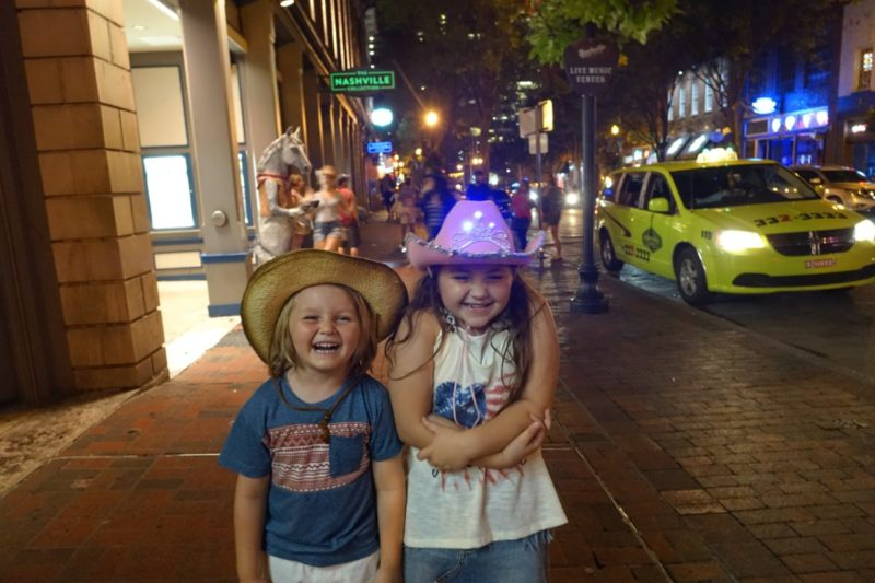 Downtown Nashville with kids