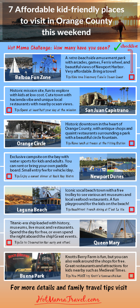 Infographic 7 things to do with kids in orange county ca