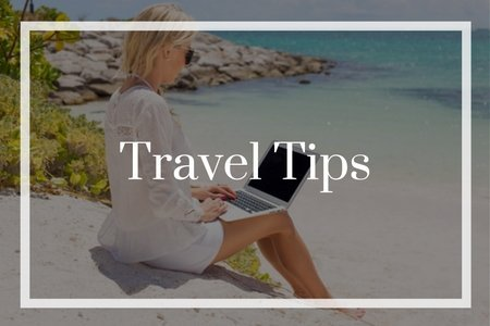 Image with word travel tips