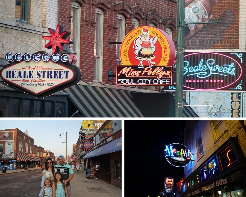 Hanging out on Beale Street Downtown Memphis with kids