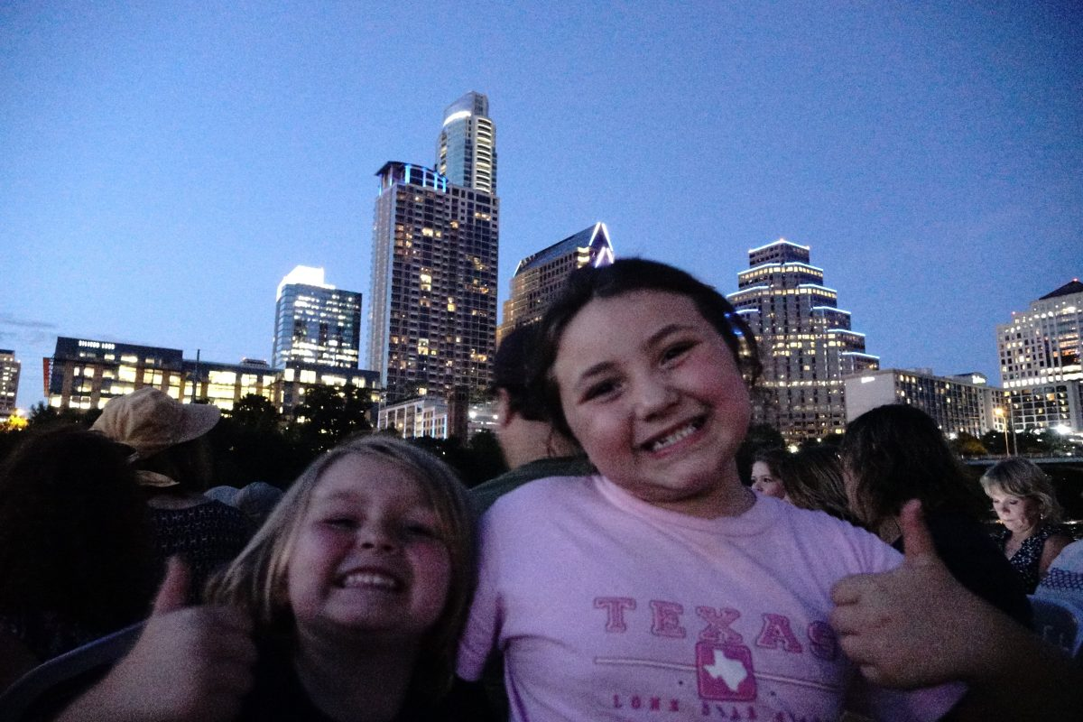 Seeing the South Congress Bridge Bats was a huge highlight for the kids