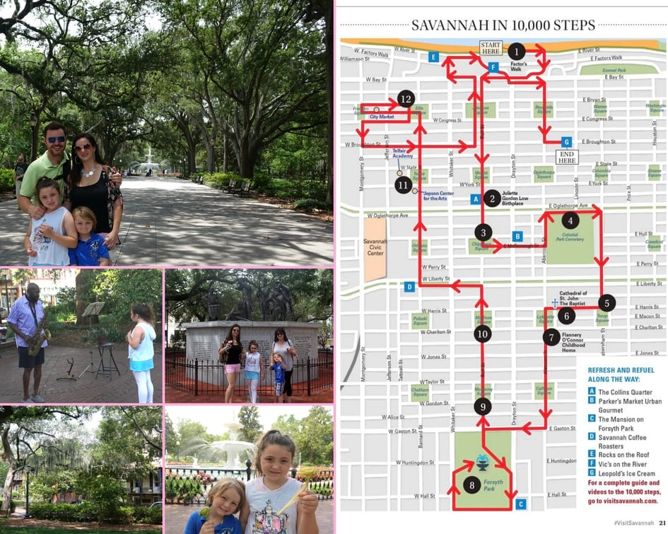 10,000 Steps of Savannah Walking Tour