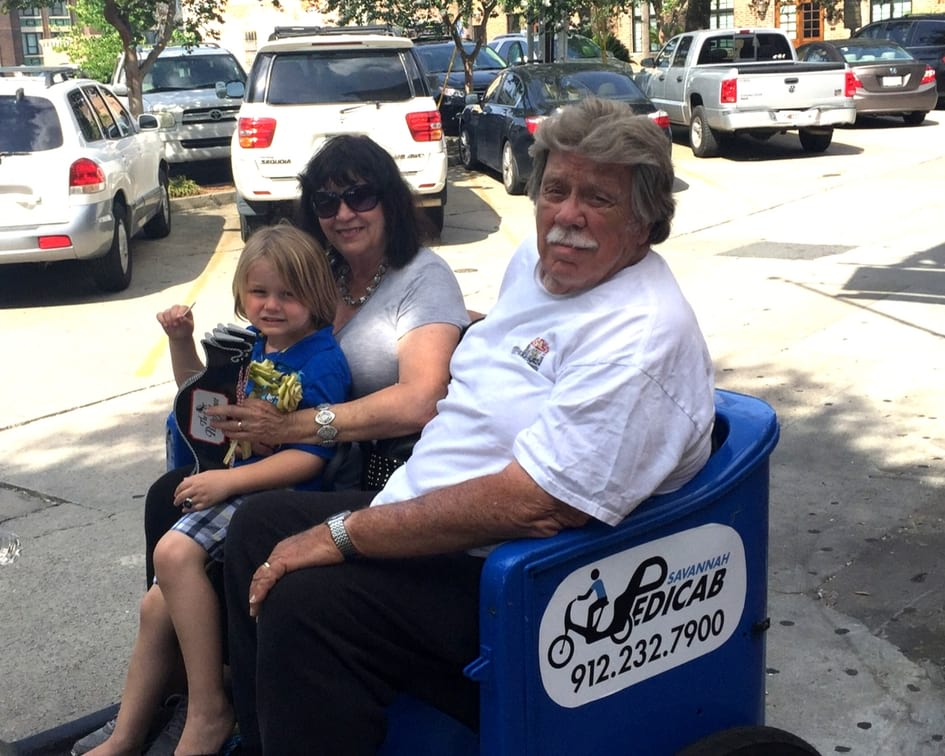 Riding Pedicabs in Savannah