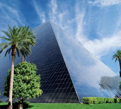 Exterior of Luxor Pyramid Las Vegas